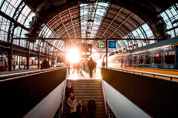 Station Amsterdam CS trein